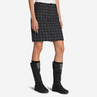 Women's Classic Wool-Blend Skirt - Pattern in Black