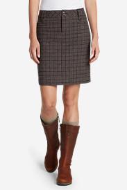 Women's Classic Wool-Blend Skirt - Pattern in Brown
