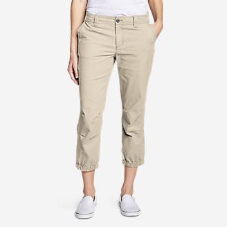Women's Adventurer Ripstop 2.0 Slim Crop Pants in Beige