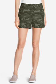 Women's Willit Poplin Shorts - Print in Green