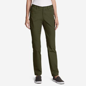 Women's Legend Wash Stretch Pants - Curvy Fit in Green