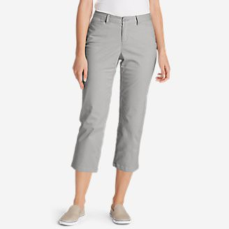 Women's Stretch Legend Wash Cropped Pants - Curvy Fit in Gray