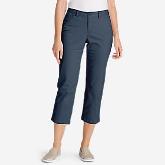 Women's Legend Wash Stretch Cropped Pants - Curvy Fit in Blue