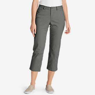 Women's Legend Wash Stretch Cropped Pants - Curvy Fit in Gray