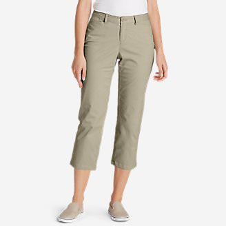 Women's Legend Wash Stretch Cropped Pants - Curvy Fit in White