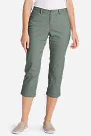 Women's Legend Wash Stretch Cropped Pants - Curvy Fit in Green