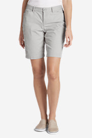 Women's Stretch Legend Wash Shorts - Curvy Fit, 10' in Gray
