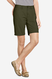 Women's Legend Wash Stretch Shorts - Curvy Fit, 10' in Green