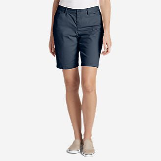 Women's Legend Wash Stretch Shorts - Curvy Fit, 10' in Blue