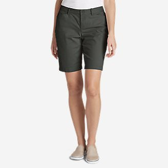 Women's Legend Wash Stretch Shorts - Curvy Fit, 10' in Gray
