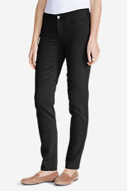 Women's Elysian Twill Slim Straight Jeans - Slightly Curvy in Black