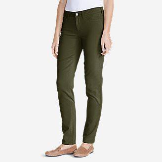 Women's Elysian Twill Slim Straight Jeans - Slightly Curvy in Green