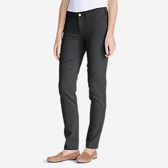 Women's Elysian Twill Slim Straight Jeans - Slightly Curvy in Gray