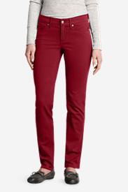 Women's Elysian Twill Slim Straight Jeans - Slightly Curvy in Red