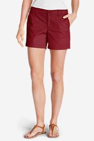 Women's Willit Poplin Shorts - Solid in Red