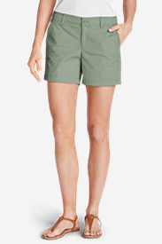 Women's Willit Poplin Shorts - Solid in Green