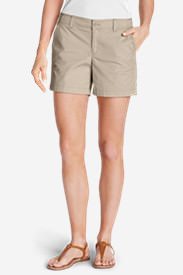 Women's Willit Poplin Shorts - Solid in White