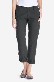 Women's Adventurer Stretch Ripstop Crop Cargo Pants - Slightly Curvy in Gray