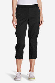 Women's Kick Back Twill Crop Pants in Black