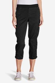 Women's Kick Back Twill Crop Pants in Black