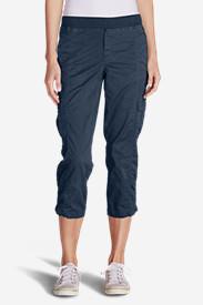 Women's Kick Back Twill Crop Pants in Blue
