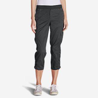 Women's Kick Back Twill Crop Pants in Gray