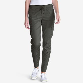 Women's Kick Back Twill Jogger Pants in Green
