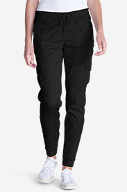 Women's Kick Back Twill Jogger Pants in Black
