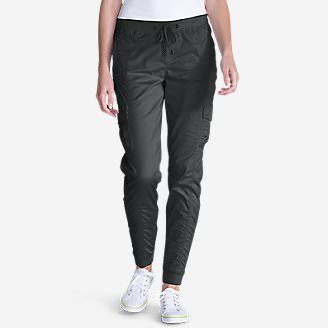 Women's Kick Back Twill Jogger Pants in Gray
