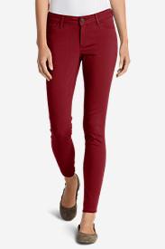 Women's Elysian Twill Skinny Jeans - Slightly Curvy in Red