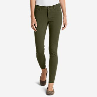 Women's Elysian Twill Skinny Jeans - Slightly Curvy in Green