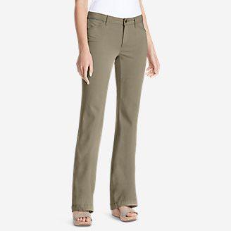 Women's Elysian Twill Trousers - Curvy in Beige