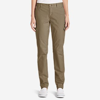 Women's Adventurer Stretch Ripstop Cargo Pants - Slightly Curvy in Brown
