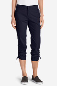 Women's Adventurer Stretch Ripstop Crop Cargo Pants - Slightly Curvy in Blue