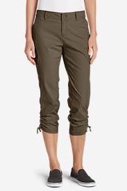 Women's Adventurer® Stretch Ripstop Crop Cargo Pants - Slightly Curvy in Beige