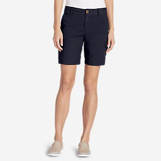 Women's Adventurer Stretch Ripstop Cargo Shorts - Slightly Curvy in Blue