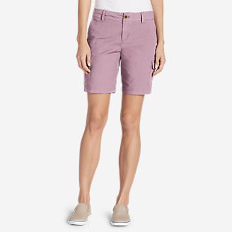 Women's Adventurer Stretch Ripstop Cargo Shorts - Slightly Curvy in Purple