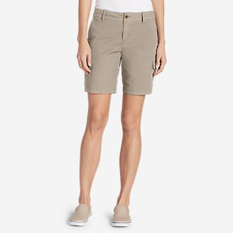 Women's Adventurer® Stretch Ripstop Cargo Shorts - Slightly Curvy in Beige