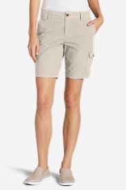 Women's Adventurer Stretch Ripstop Cargo Shorts - Slightly Curvy in Gray