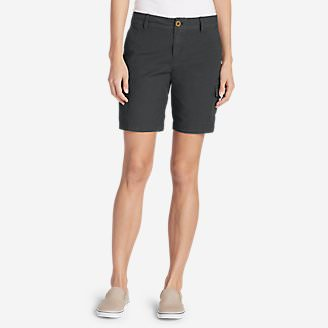 Women's Adventurer Stretch Ripstop Cargo Shorts - Slightly Curvy in Gray