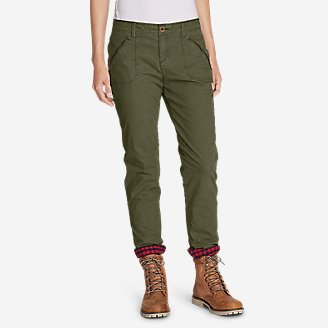Women's Adventurer Stretch Ripstop Lined Pants - Slightly Curvy in Green