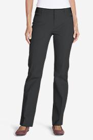 Women's StayShape® Twill Baby Boot Pants in Gray