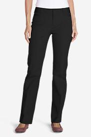 Women's StayShape® Twill Baby Boot Pants in Black