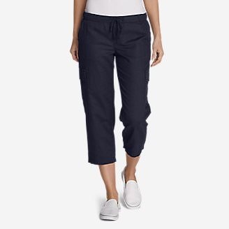 Women's Freeland Cargo Crop Pants in Blue