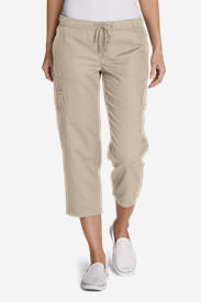 Women's Freeland Cargo Crop Pants in White