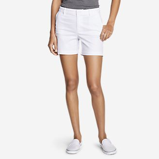 Women's Willit Stretch Legend Wash Shorts - 5' in White