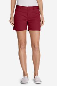 Women's Willit Legend Wash Stretch Shorts - 5' in Red