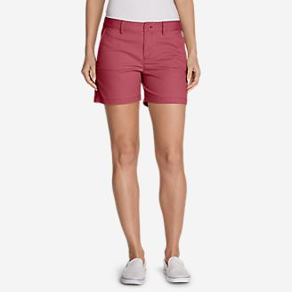Women's Willit Stretch Legend Wash Shorts - 5' in Red