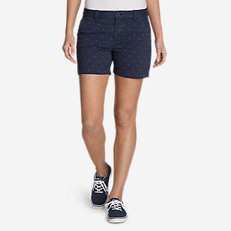 Women's Willit Legend Wash Stretch Shorts - Print, 5' in Blue