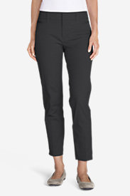 Women's StayShape® Twill Ankle Pants in Gray